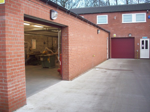 External view of our carpentry workshop
